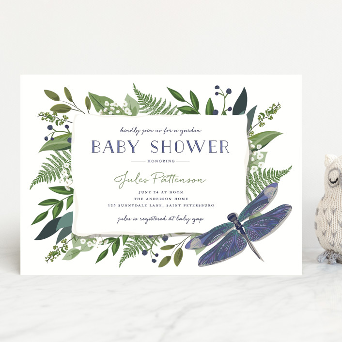 """""""Nature Baby"""" - Baby Shower Invitations in Mixed Berry by Susan Moyal."""