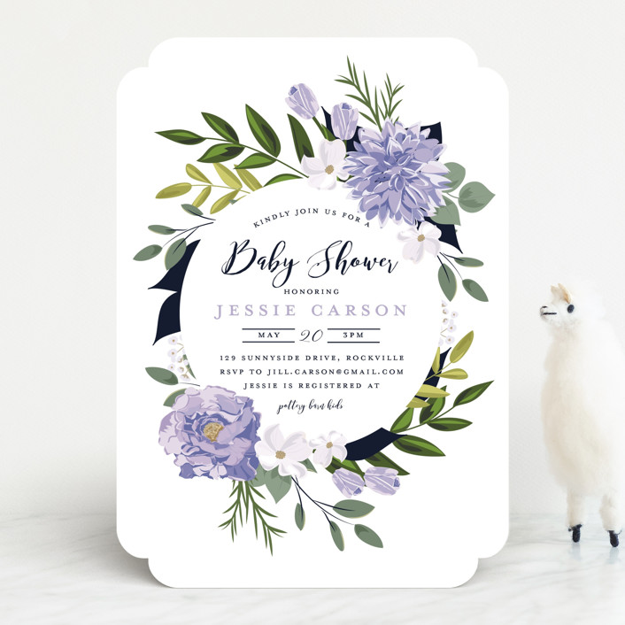 """Summer Shower"" - Baby Shower Invitations in Blush by Susan Moyal."