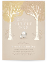 This is a brown baby shower invitation by Jennifer Wick called Little owlet with standard printing on signature in standard.