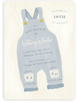 This is a blue baby shower invitation by Julie Murray called Blue Jean Baby with standard printing on signature in standard.