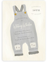 This is a grey baby shower invitation by Julie Murray called Blue Jean Baby with standard printing on signature in standard.