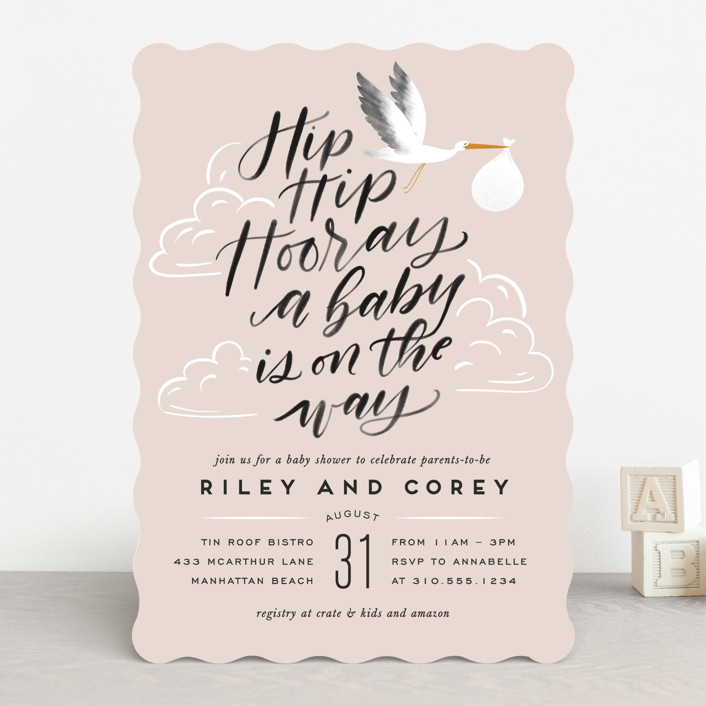 """""""Greatest Gift"""" - Baby Shower Invitations in Sky by Leah Bisch."""