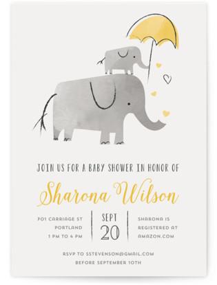Elephant Love Baby Shower Invitations