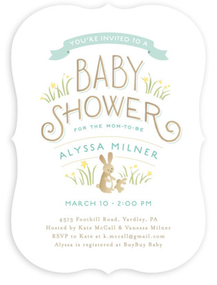 easter party invitations  party decor  minted, Baby shower invitations