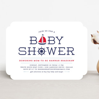 Ahoy Baby Shower Invitations
