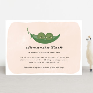 Sweet Pea Baby Shower Invitations