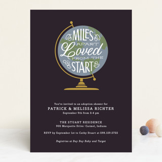 Miles Apart Baby Shower Invitations