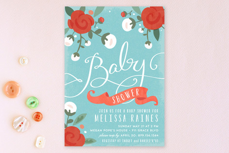 Baby Roses Baby Shower Invitations