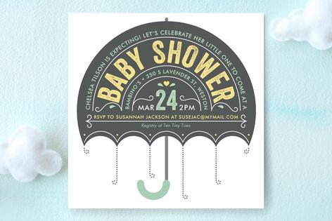 Ombrello Baby Shower Invitations