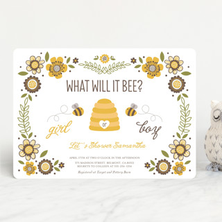 Fl Bee Baby Shower Invitations