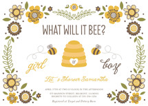 Floral Bee Baby Shower Invitations By Chasity Smith