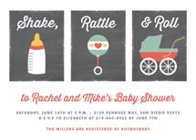 Shake, Rattle & Roll Baby Shower Invitations By Erica Krystek