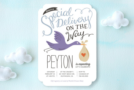 Air Mail Baby Shower Invitations