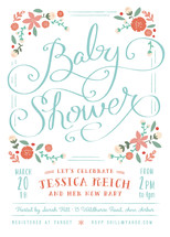 Vintage Garden Baby Shower Invitations By Lori Wemple