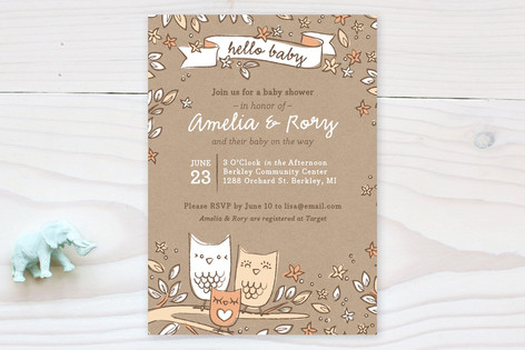 Little Hoot Baby Shower Invitations