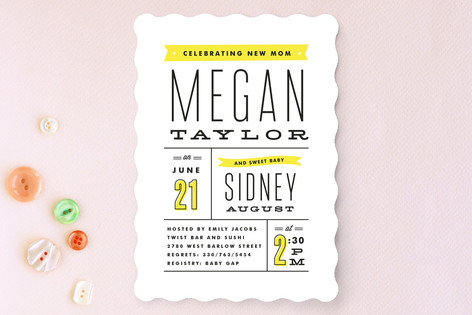 Posted Baby Shower Invitations