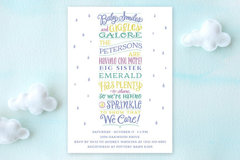 Sprinkle Stack Baby Shower Invitations