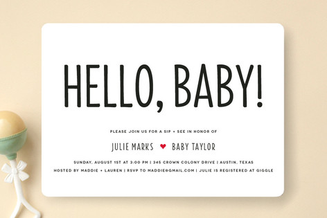 Mod sip and see baby shower invitations by fig and minted mod sip and see baby shower invitations filmwisefo