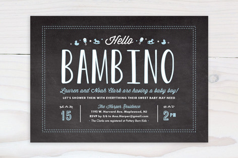 Hello Bambino Baby Shower Invitations