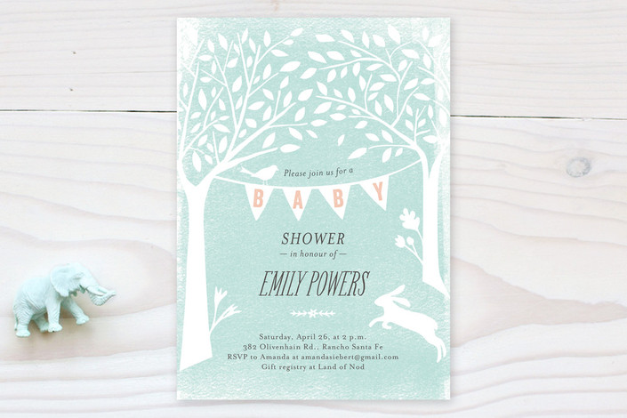 pastoral banner baby shower invitations by griffin minted