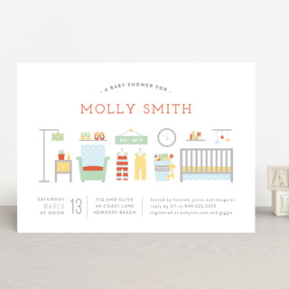 Little Nursery Baby Shower Invitations