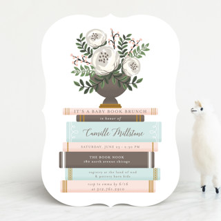 Storybook Stack Baby Shower Invitations