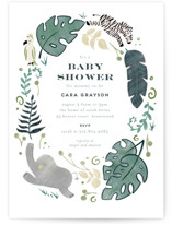 This is a green baby shower invitation by Leah Bisch called On Safari with standard printing on signature in standard.