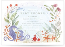 This is a purple baby shower invitation by Morgan Ramberg called Sea Floor with standard printing on signature in standard.