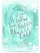 This is a green baby shower invitation by Baumbirdy called You are Ours with standard printing on signature in standard.