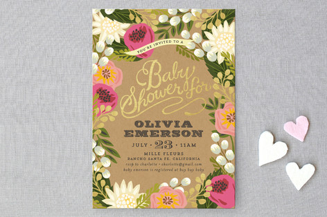 floral canopy baby shower invitations by griffinbe | minted, Baby shower invitations