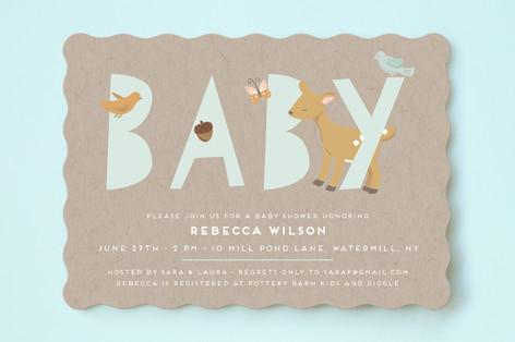Oh Deer Baby Shower Invitations by peetie design Minted