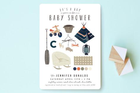 Baby Boy Moodboard Baby Shower Invitations