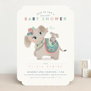 Sweet Elephant Shower Baby Shower Invitations