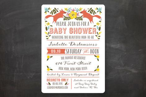 Les Renards Baby Shower Invitations