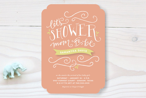 Mom to Be Baby Shower Invitations