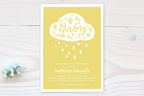 Raindrops and Blossoms Baby Shower Invitations