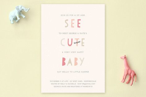 See Cute Baby Baby Shower Invitations