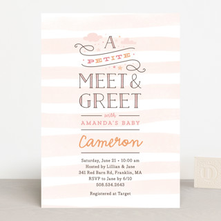 Great Petite Meet U0026 Greet Baby Shower Invitations To Business Meet And Greet Invitation Wording