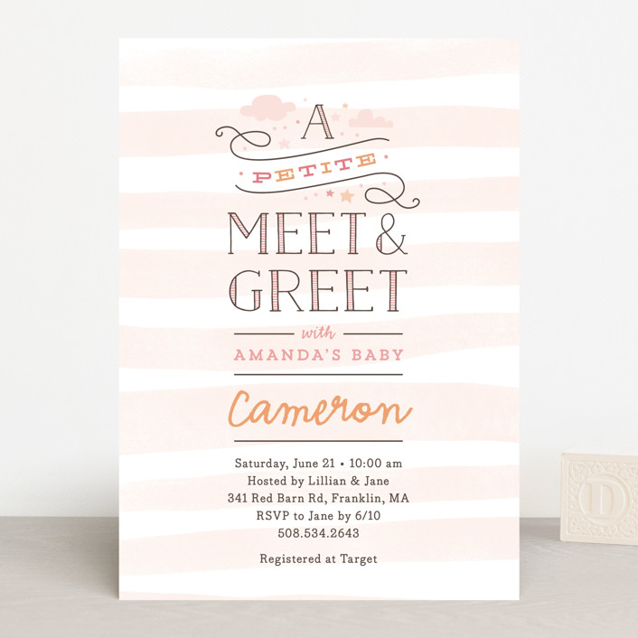 Petite Meet Greet Baby Shower Invitations By Jennifer Wick Minted