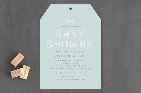 New Little Man Baby Shower Invitations
