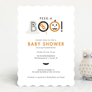 Peek A Boo Baby Shower Invitations