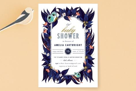 storybook garden Baby Shower Invitations