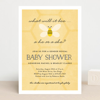 what will it bee baby shower invitations by erica minted