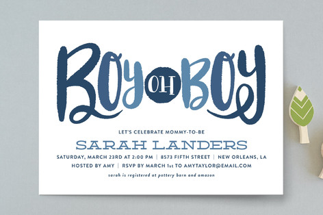 Boy oh Boy Tie Baby Shower Invitations