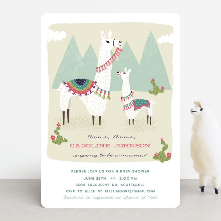 Llama Llama Baby Shower Invitations By Jackie Crawford Minted