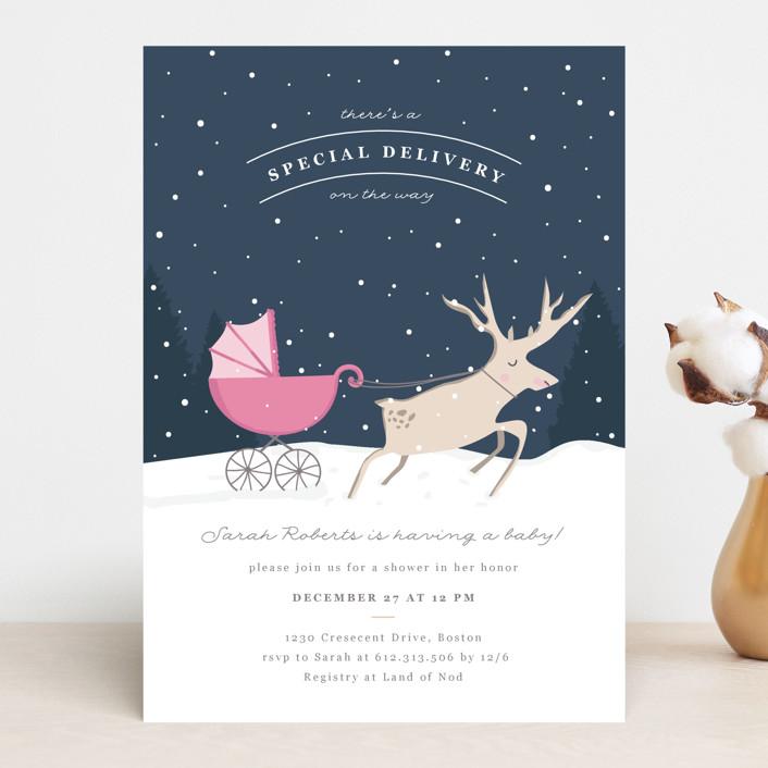 """Oh Deer"" - Baby Shower Invitations in Boyish by Creo Study."