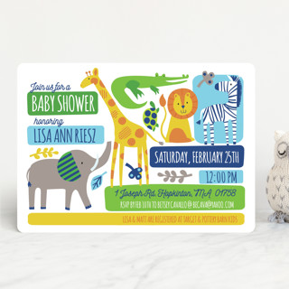 Bright Jungle Baby Shower Invitations