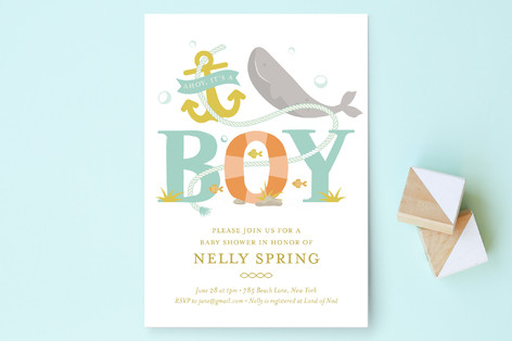 Greetings Captain Baby Shower Invitations