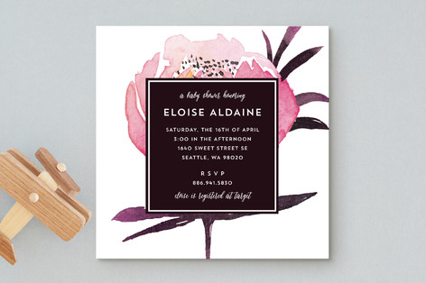 Petite Posy Baby Shower Invitations
