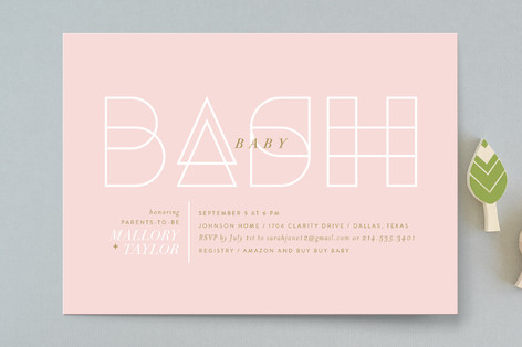 Simply A Bash Baby Shower Invitations